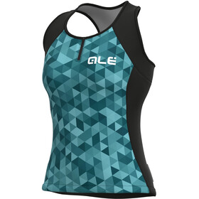 Alé Cycling Solid Triangles Tank Top Women, turquoise/green